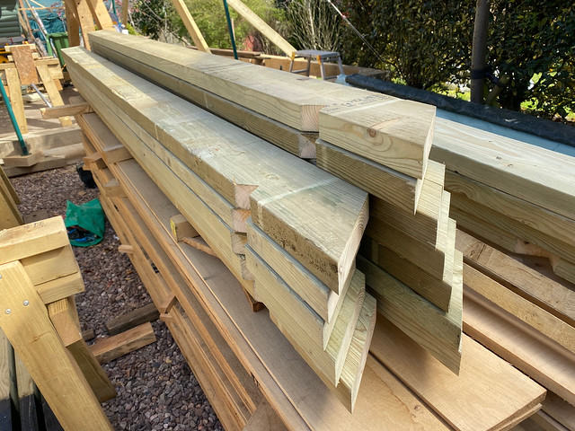 Prepared common rafters