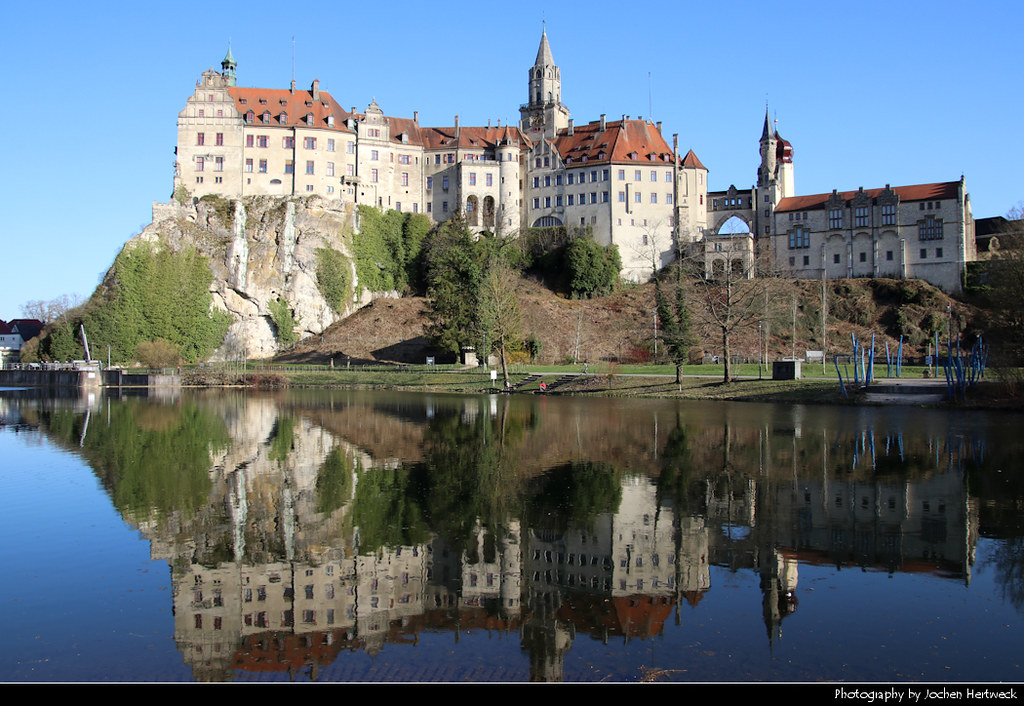 Hohenzollernschloss Sigmaringen reflection, Sigmaringen, Germany