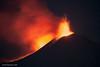 Eruption of Mount Etna on Sicily at 31.03.2021