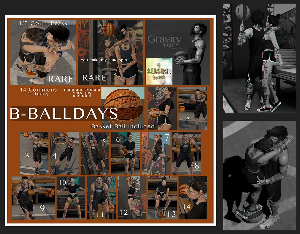 Gravity Poses – BBall Days Gacha for {4}Seasons