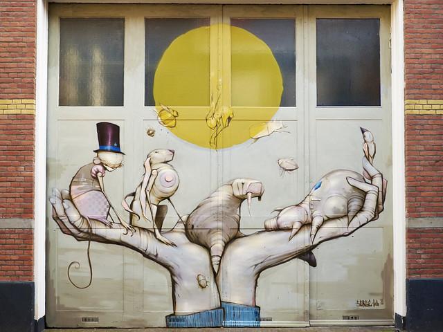 Deurschildering Serge Kortenbroek DDD
