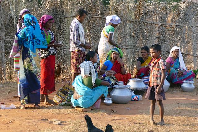 Scène de marché tribal