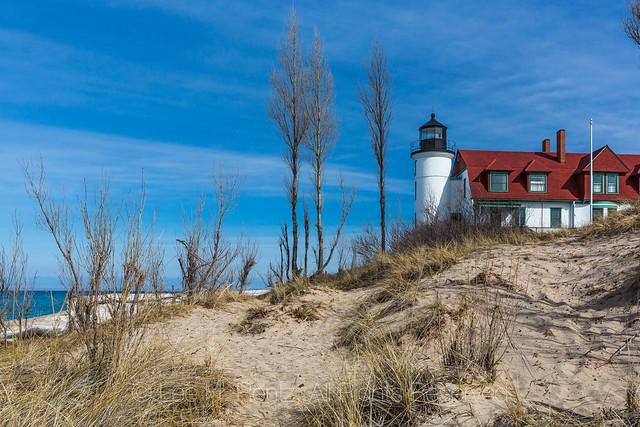Point Betsie Lighthouse along Lake Michigan