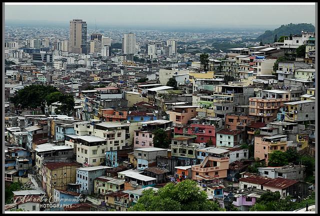 CASAS DE COLORES - CERRO SANTA ANA. COLORFUL HOUSES - HILL SANTA ANA. GUAYAQUIL - ECUADOR.