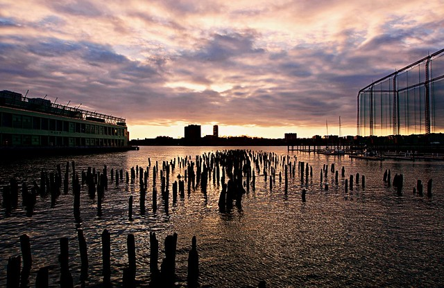 Sunset ripples - Chelsea Piers, New York City