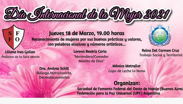 Argentina-2021-03-18-UPF-Argentina Marks UN International Women's Day by Honoring Five Women for Their Humanitarian Work