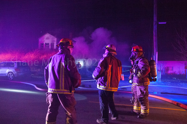 Garage Fire on the North Service Road in Jordan (Lincoln)