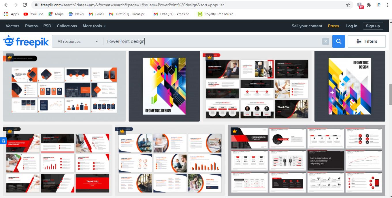 Freepik adalah salah satu website penyedia gambar dan vektor.