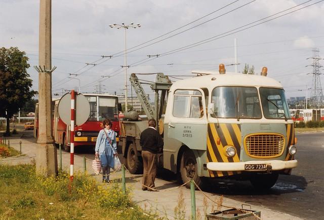 Jelcz 043 PAT Gdynia Pologne Sept. 1990a