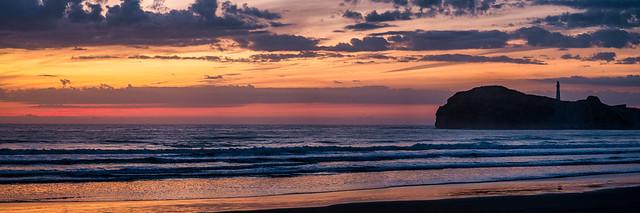 Sunrise at Castlepoint Beach