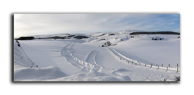 Snow on the Correen Hills