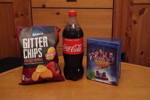 """Gitterchips Grilled Paprika und Coca-Cola zum Film """"Zurück in die Zukunft 3"""""""
