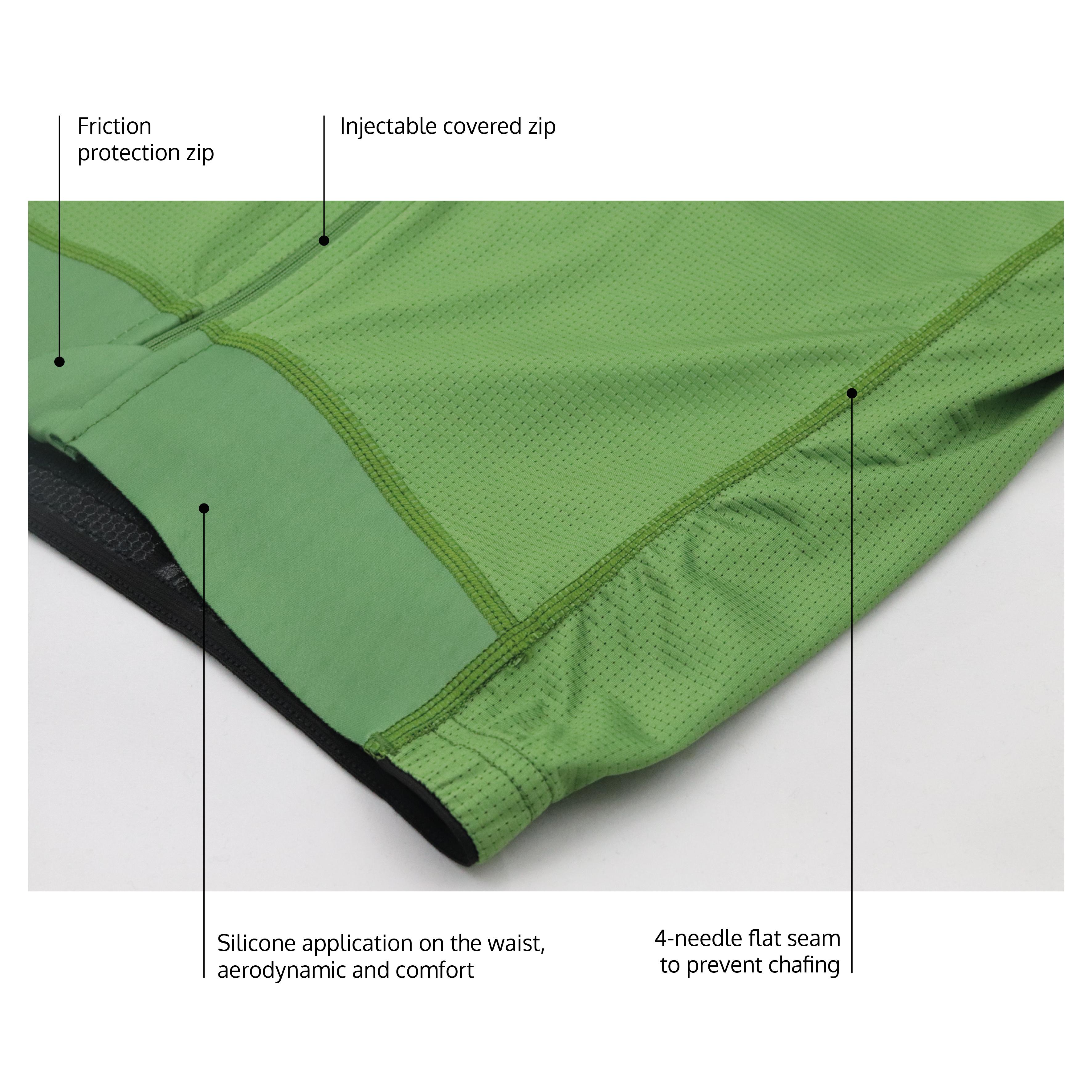 Moss jersey details