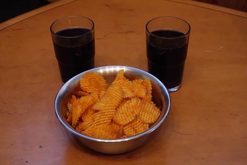 Gitterchips Grilled Paprika und Coca-Cola
