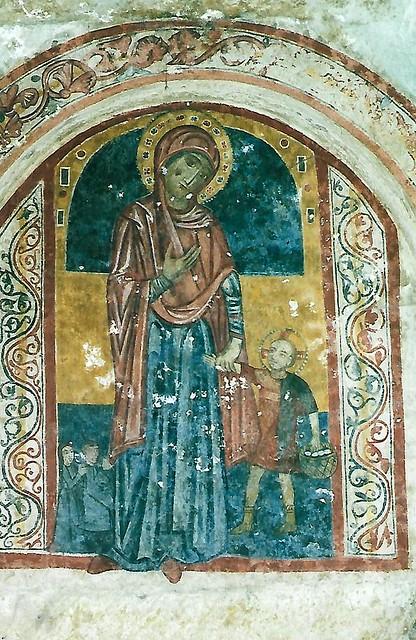 Massafra, rupestrian church La Canderola, Mary and the Christ Child