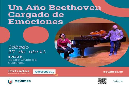 """Cartel promocional de """"Un año Beethoven cargado de emociones"""""""