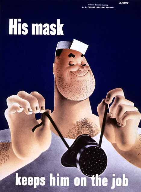 PRICE, H. His Mask Keeps Him on the Job, 1942