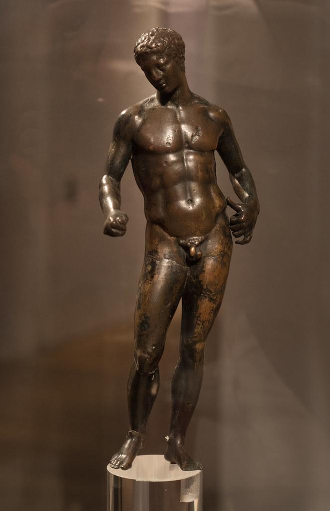 Roman bronze statuette of a youth