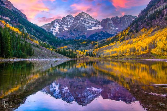 Maroon Lake in Autumn