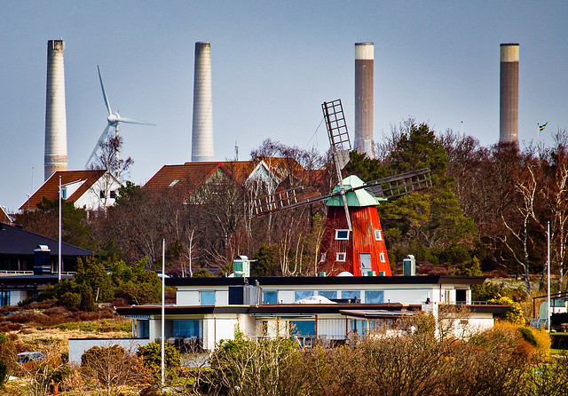 Old and new - The Windmill in Stenungsund