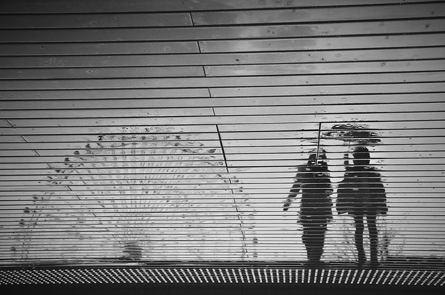 Rainy day silhouette