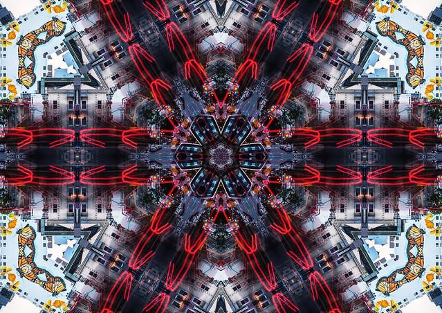 kaleidoscopic monarch