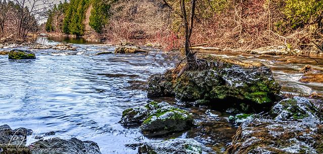 Wet rocks on the Eramosa