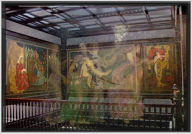 Fine Arts Building [Studebaker Building] ~ Chicago IL ~ Murals on the Top Floor - Ghost  -  HAUNTED