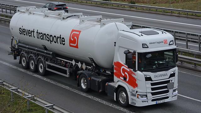 D - sievert logistik >241 712 sievert transporte< Scania NG R450