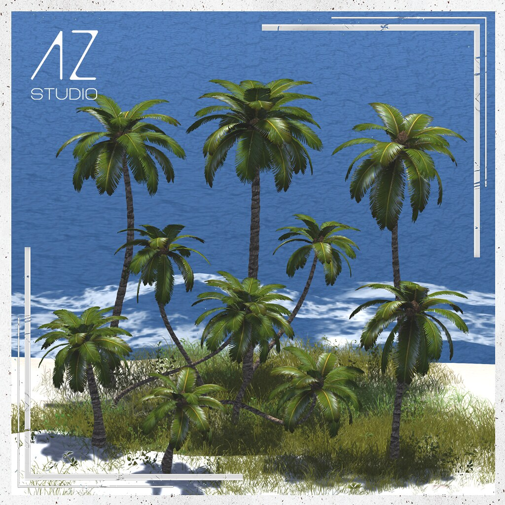 [AZ] STUDIO at Swank Event April 2021 New Exclusive Release. [AZ] STUDIO California Palm – Fatpack – 10 palms set.