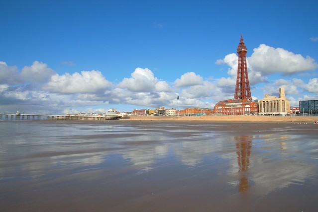 Blackpool Tower reflections