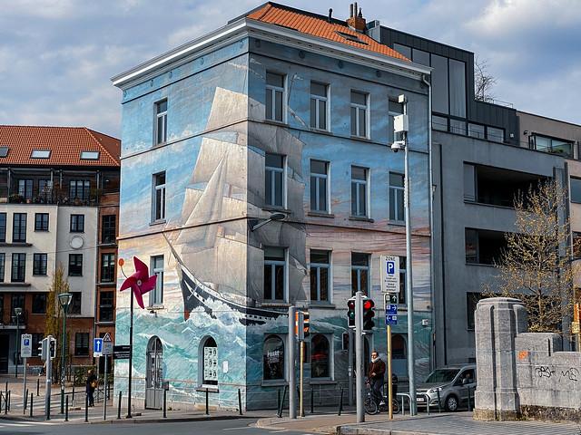 Le phare du Kanaal boat mural