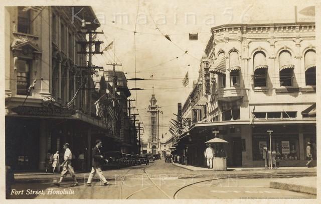 Fort Street at King Makai c1930