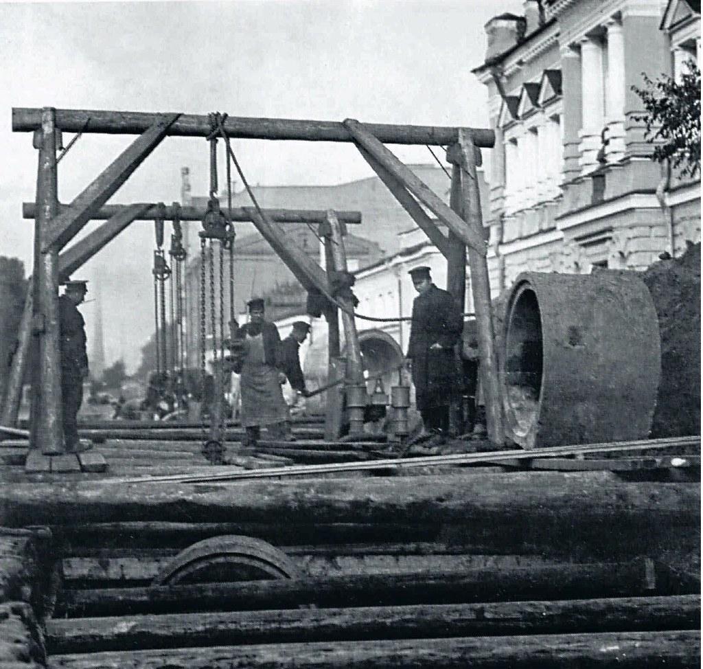 79. 1910-е. Укладка канализационных труб