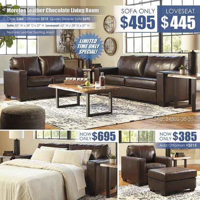 Morelos Chocolate Sofa OR Loveseat_34502-38-35-T855