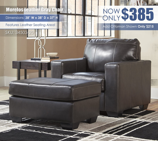 Morelos Leather Gray Chair_34503-20-14