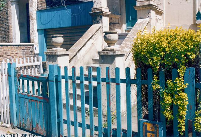Fence, Steps, Clapham, Lambeth, 1989,
