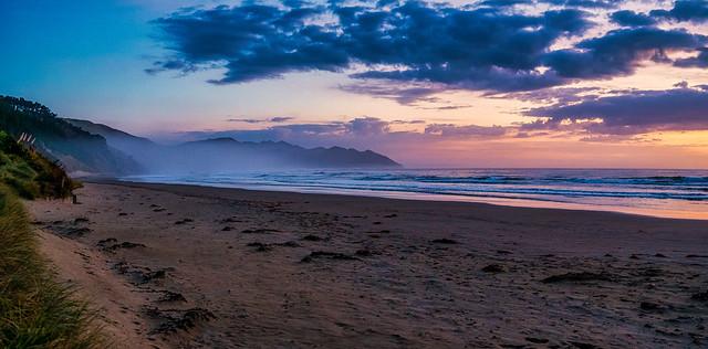 Misty Sunrise at Castlepoint Beach