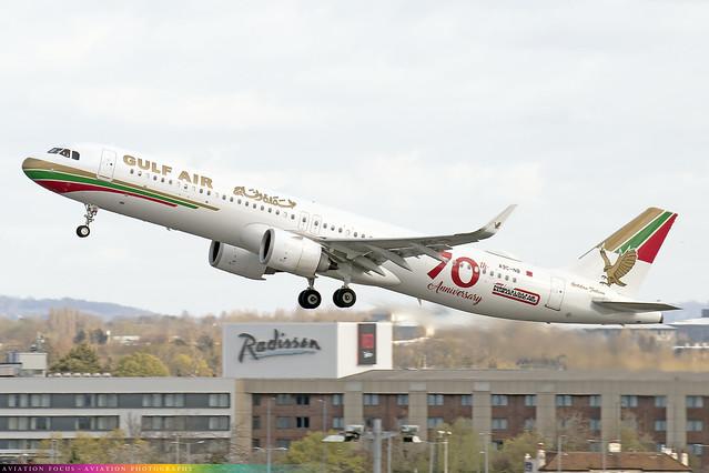 A9C-NB  -  Airbus A321-253NX  -  Gulf Air  -  LHR/EGLL 9/4/21
