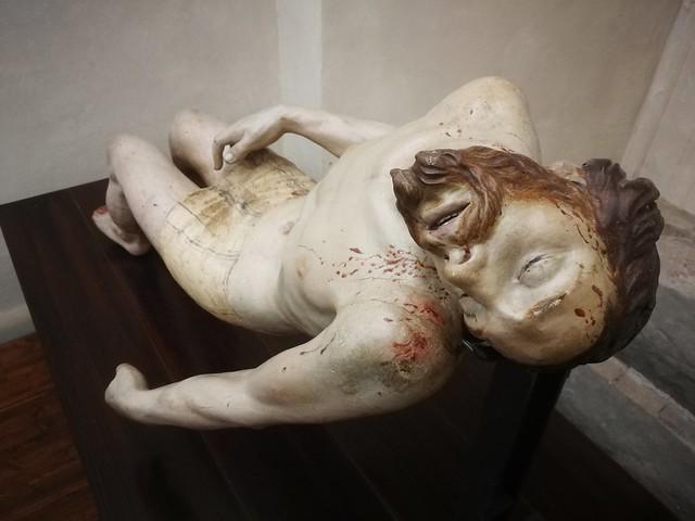 parte di una Pietà. scultore romano inizio Seicento