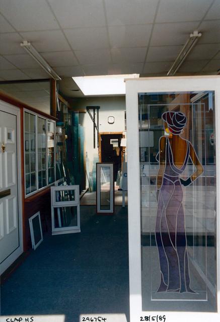 Shop, glazing, Clapham High St, Clapham, Lambeth, 1989,