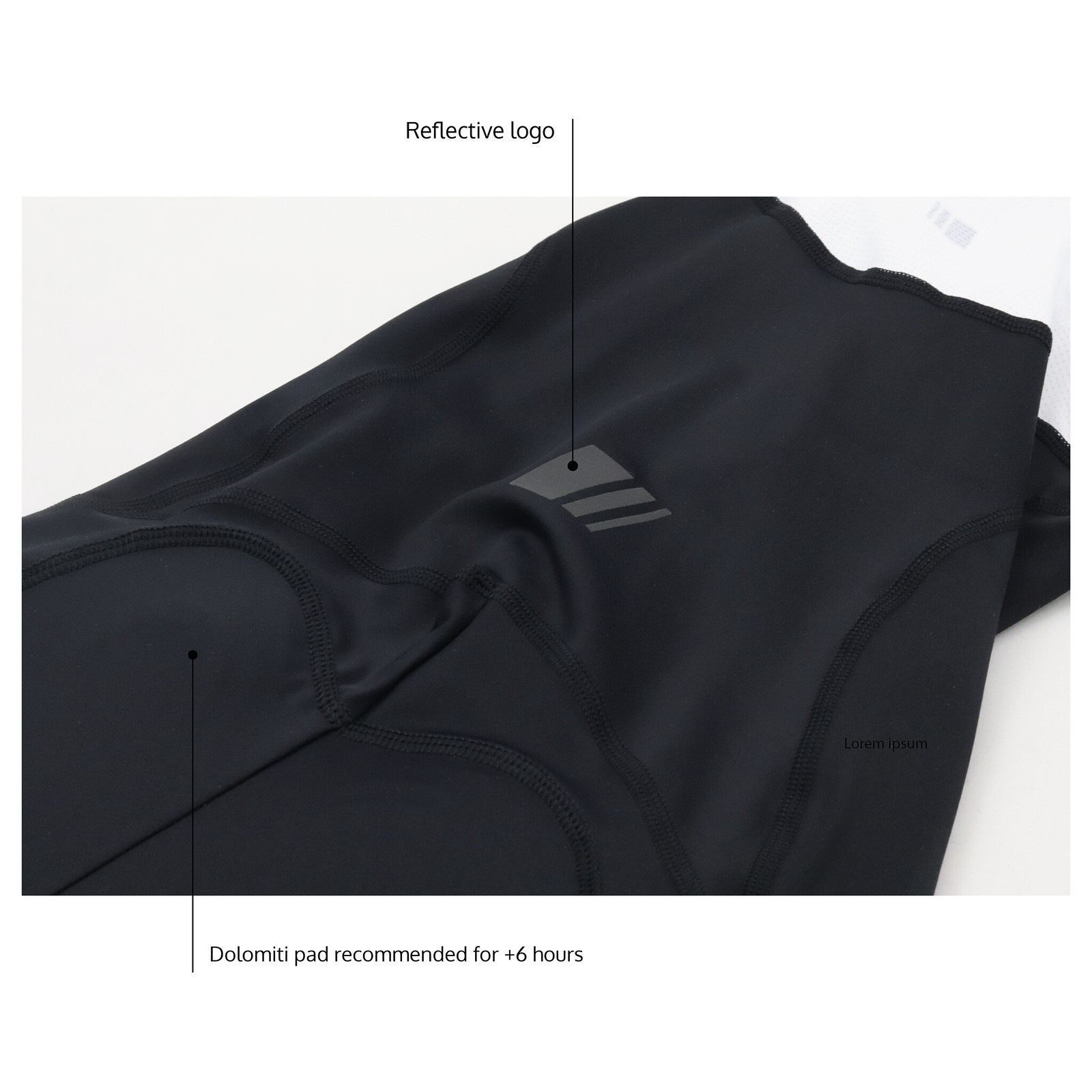 men's Endurance Black Bib Short Details