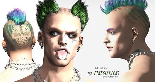 The FIRESTARTERS hair