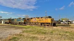 W082. 08 on the Illinois sub. Ballast Train. Eastbound