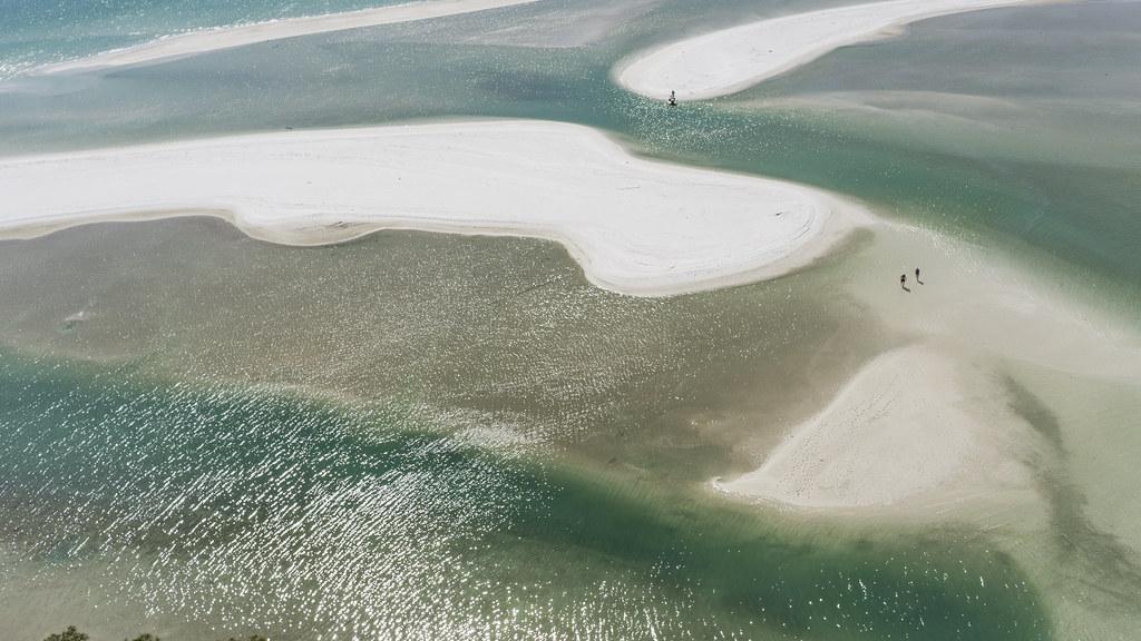 Sand Art - Brush Strokes from Above