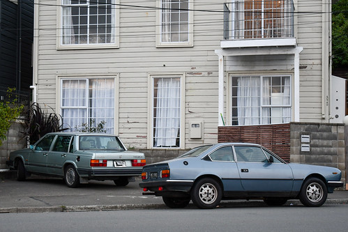 <p>Volvo 760 GLE and Lancia Beta IE</p>