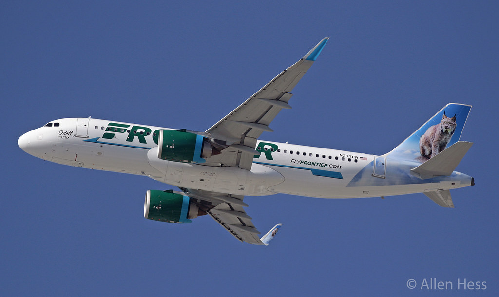 N377FR Frontier Airlines (Odell The Lynx), Airbus A320......2021-0409-047