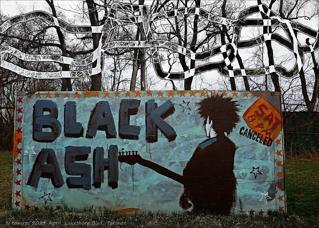 Black Ash. Rhymes with Clash?? What album cover is this? Mural by Spekchella.
