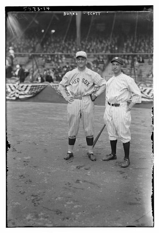 [George H. Burns, Boston AL & Everett Scott, New York AL (baseball)] (LOC)