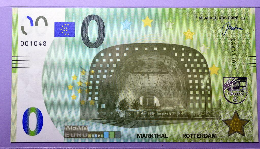 O EURO-biljet Markthal Rotterdam